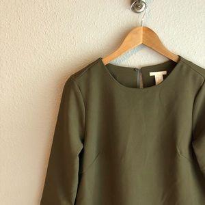 H&M Olive Green Shift Dress